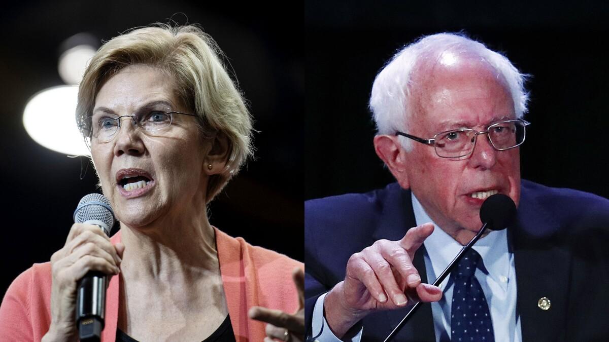 Sanders and Warren tied for second behind Biden: Poll