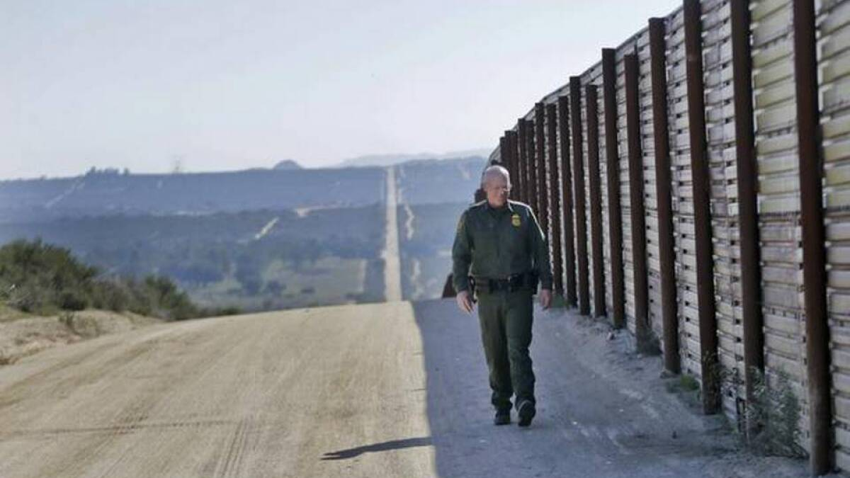 Trump administration installs plaque to commemorate 100 miles of border wall