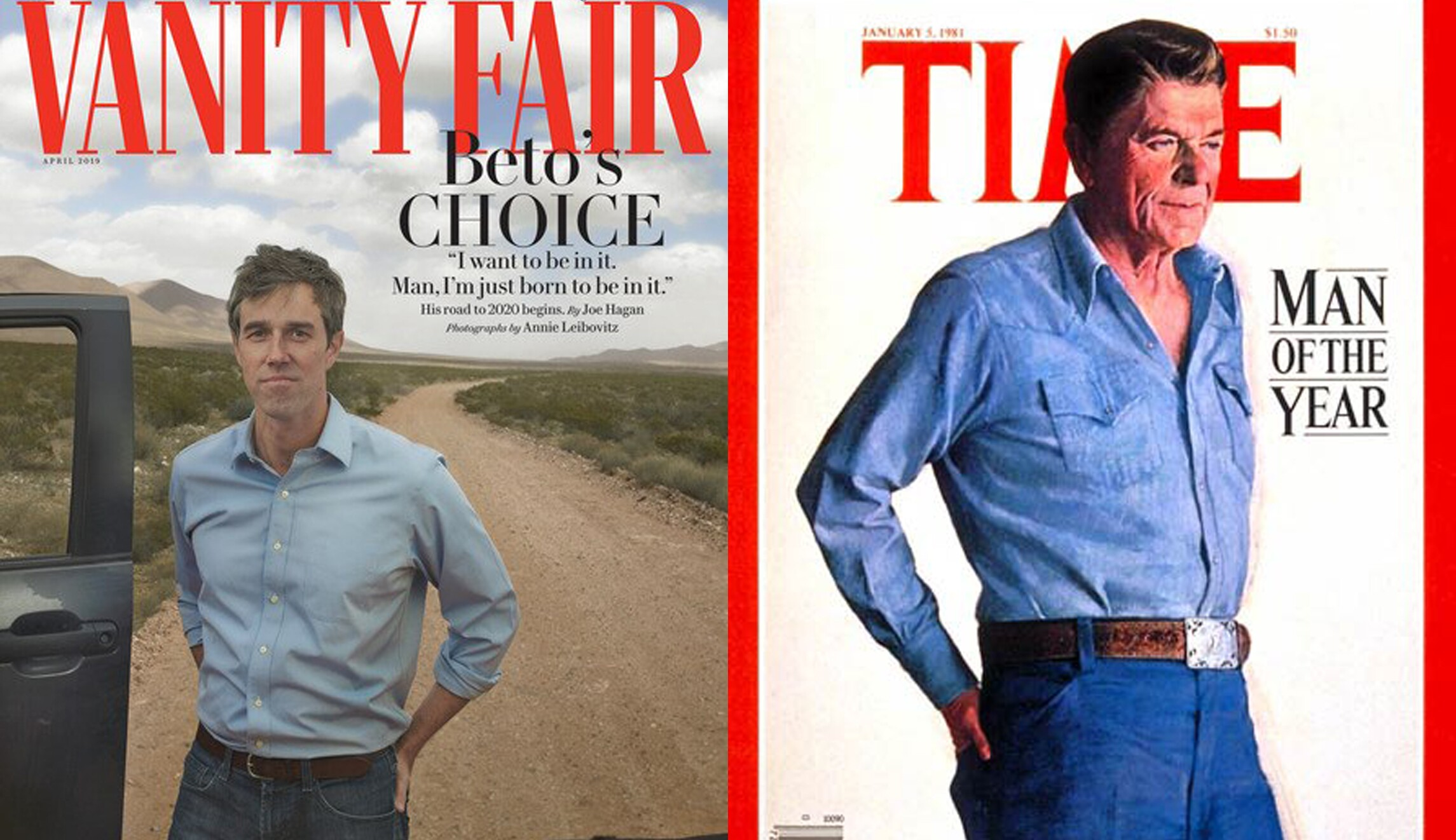 The new Reagan? Leibovitz photo of Beto O'Rourke echoes iconic portrait of GOP president