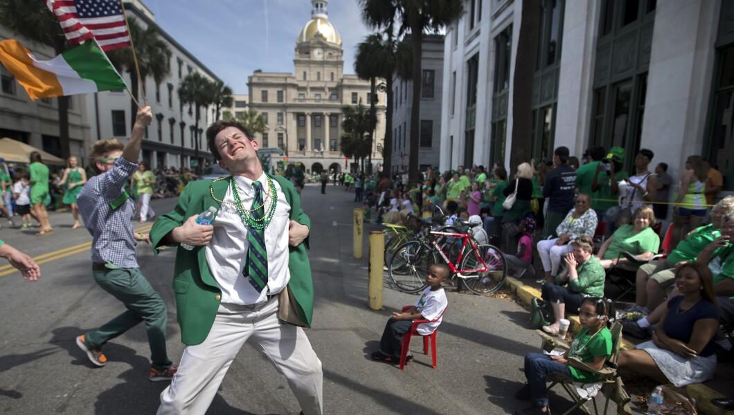 St. Patrick's Day Parade Green