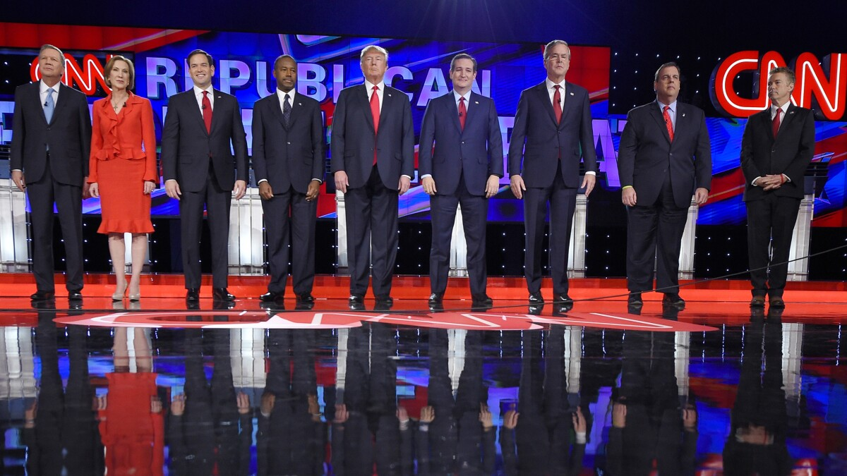 The 2016 Republican field was arguably more diverse than the 2020 Democratic field