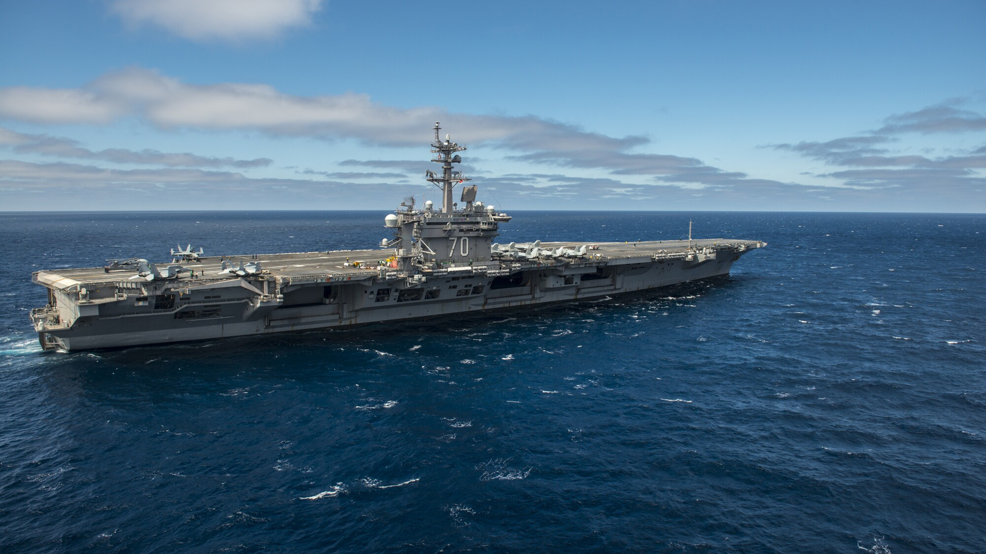 US deploys aircraft carrier after historic gap
