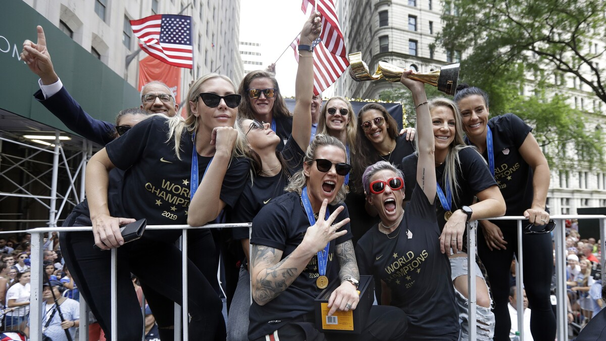 Let the US women's soccer team celebrate, they've earned it