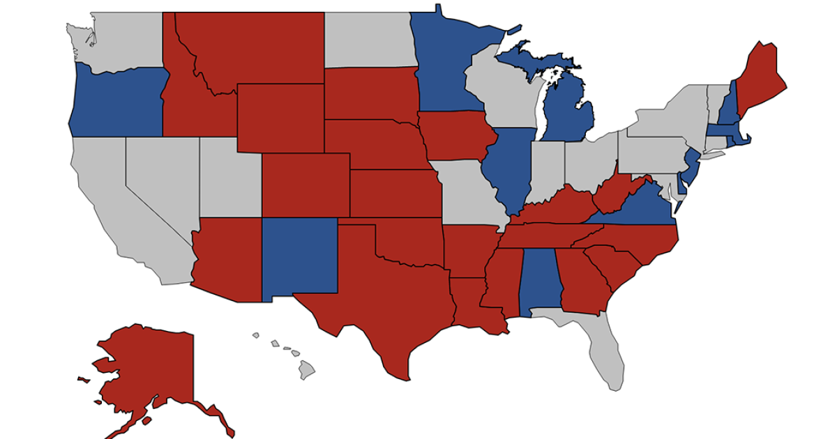 Senators By State Map.2020 Senate Map Is Not Easy For Democrats Either