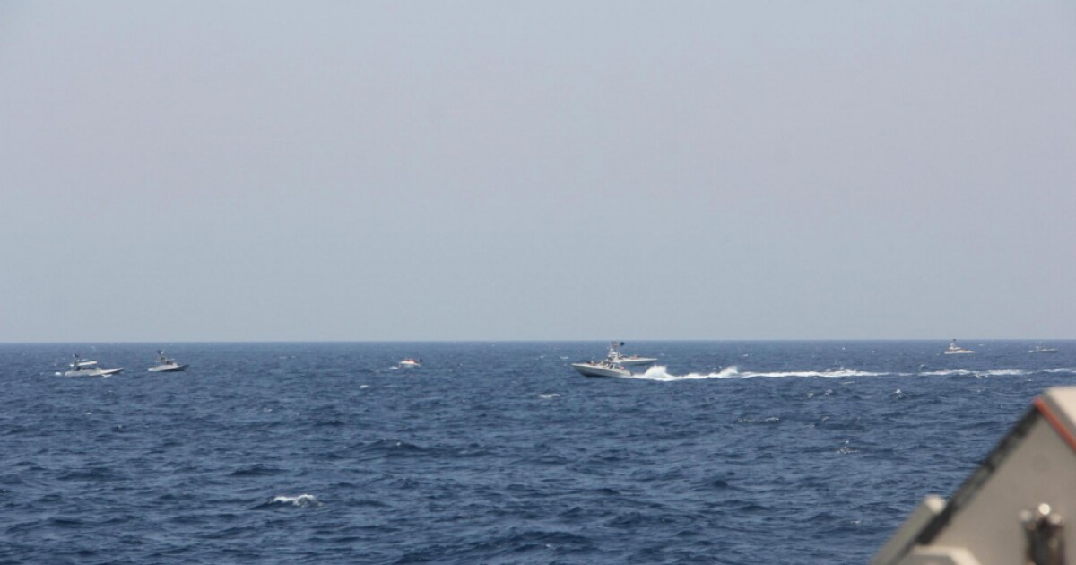 Navy harassed by 13 Iranian attack boats in Straits of Hormuz before firing warning shots