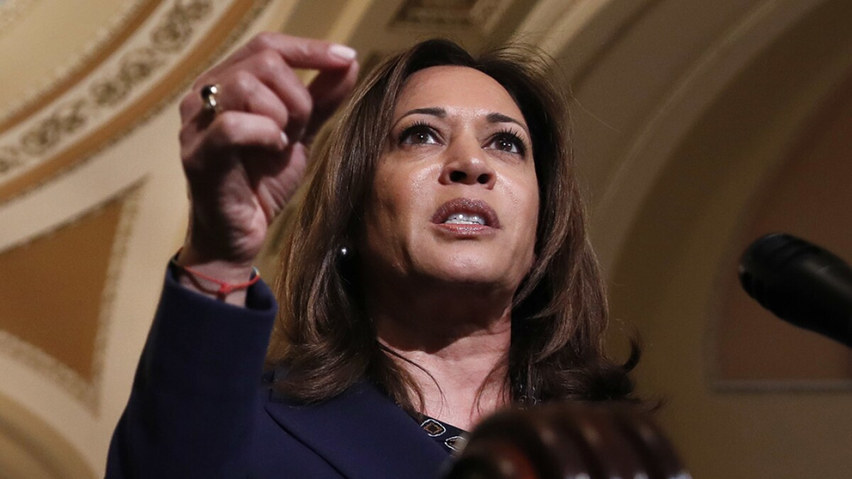 Kamala Harris claims crying women and men approached her after Kavanaugh confirmation