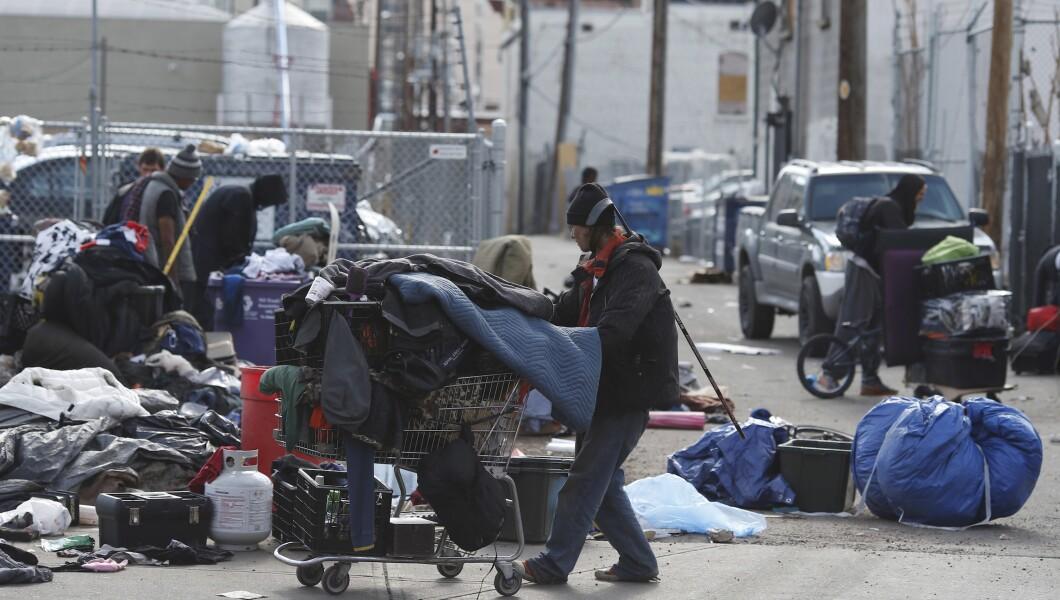 Homeless people, Denver
