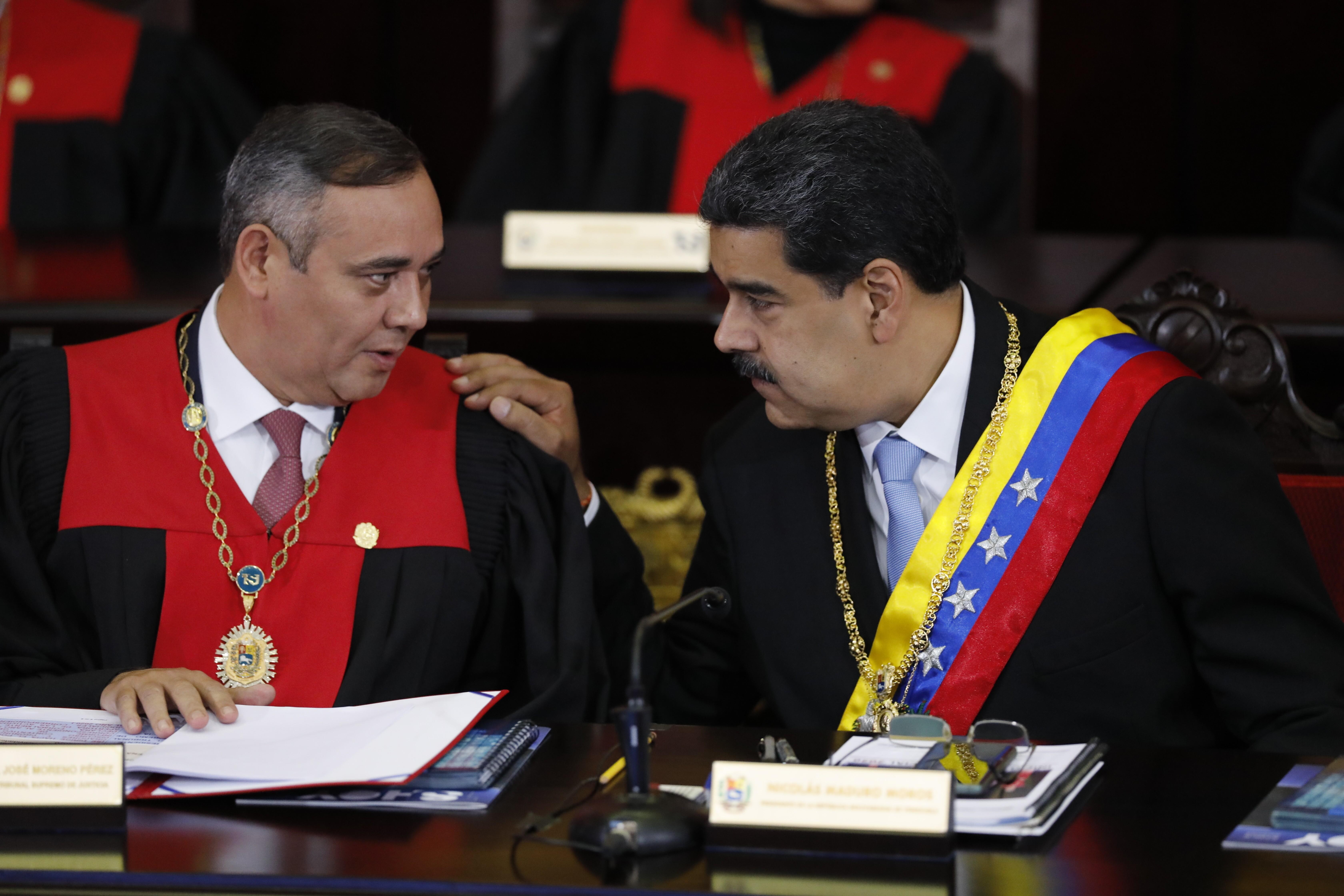 Maikel Moreno and Nicolas Maduro