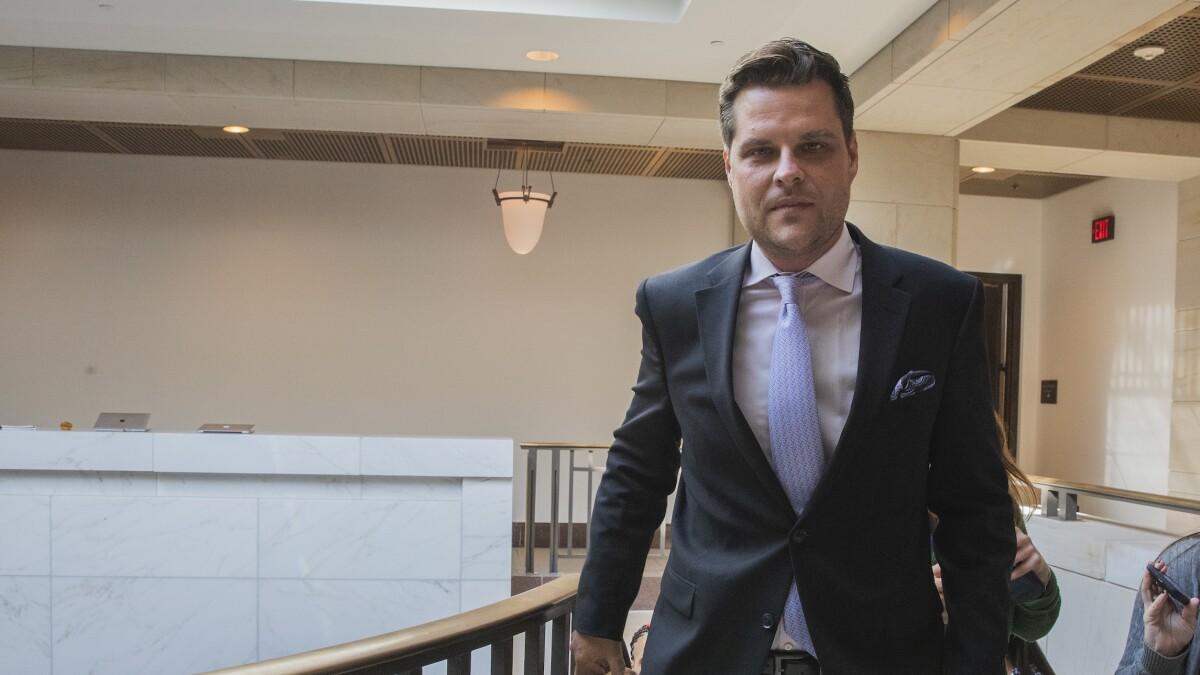 GOP Rep. Matt Gaetz ejected from secret impeachment meeting