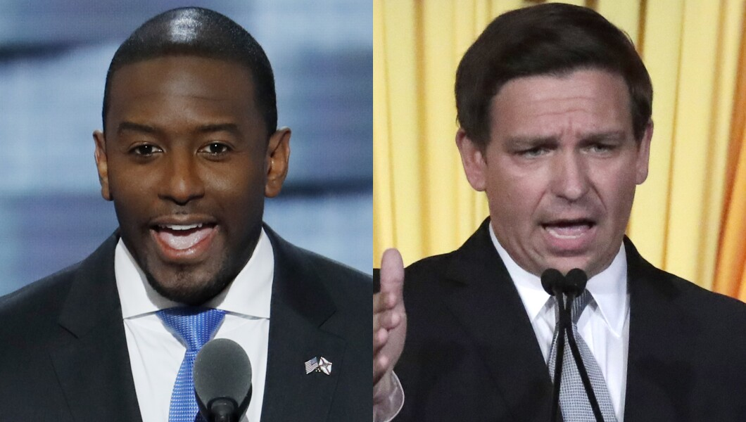 Image result for andrew gillum vs ron desantis