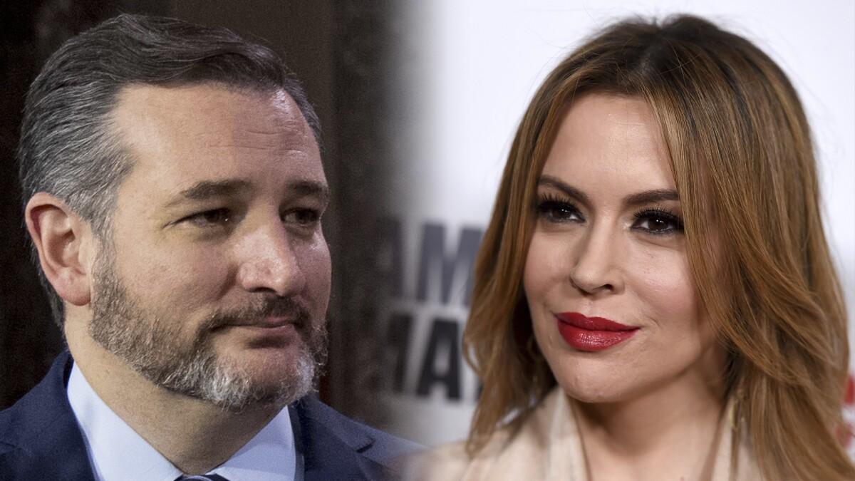 'He isn't a villain': Alyssa Milano praises Ted Cruz after gun control meeting