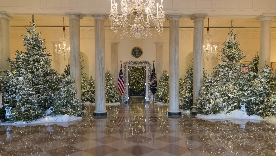 Melania Trump's first White House holiday decorations unveiled