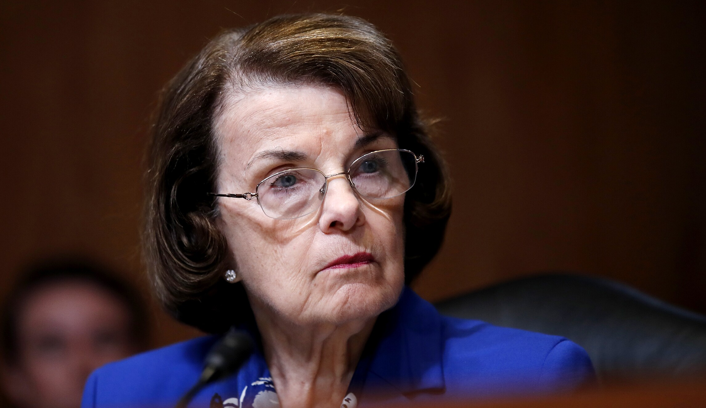 Dianne Feinstein D Calif Listens During A Hearing On Capitol