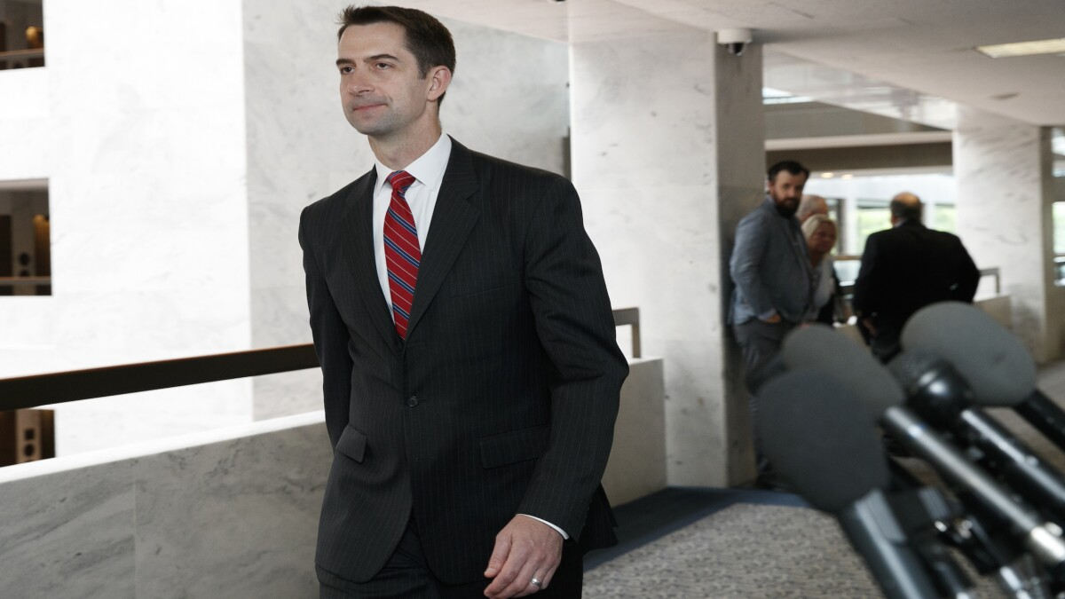 'Insolent and obstructive': Tom Cotton says intelligence watchdog shared extra details about Ukraine whistleblower with House Democrats