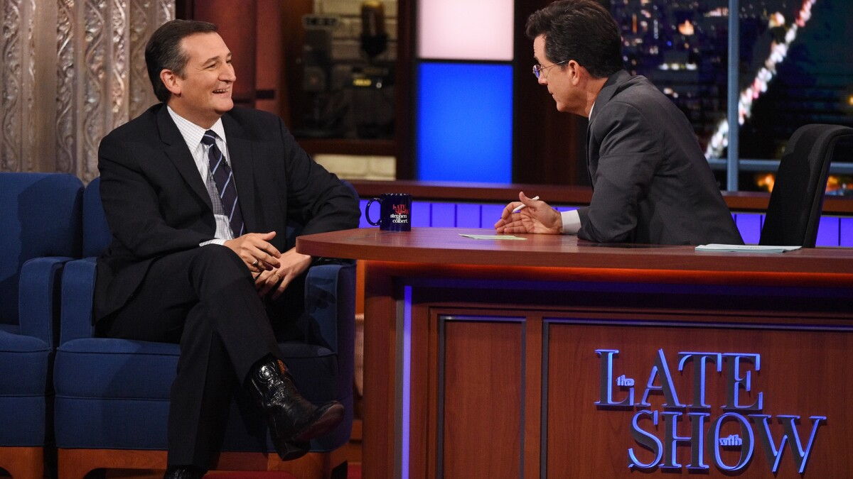 Ted Cruz weighs in on late night comedians: Colbert is 'probably the worst'