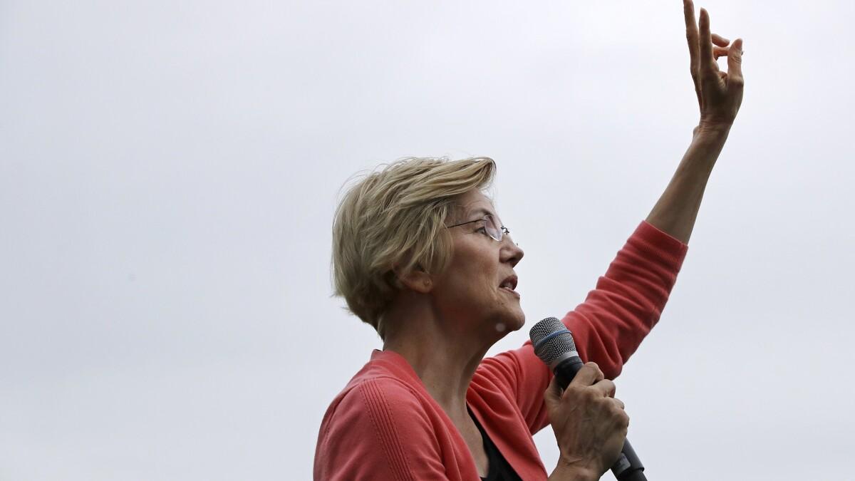 Warren leads Biden in poll while Sanders falters