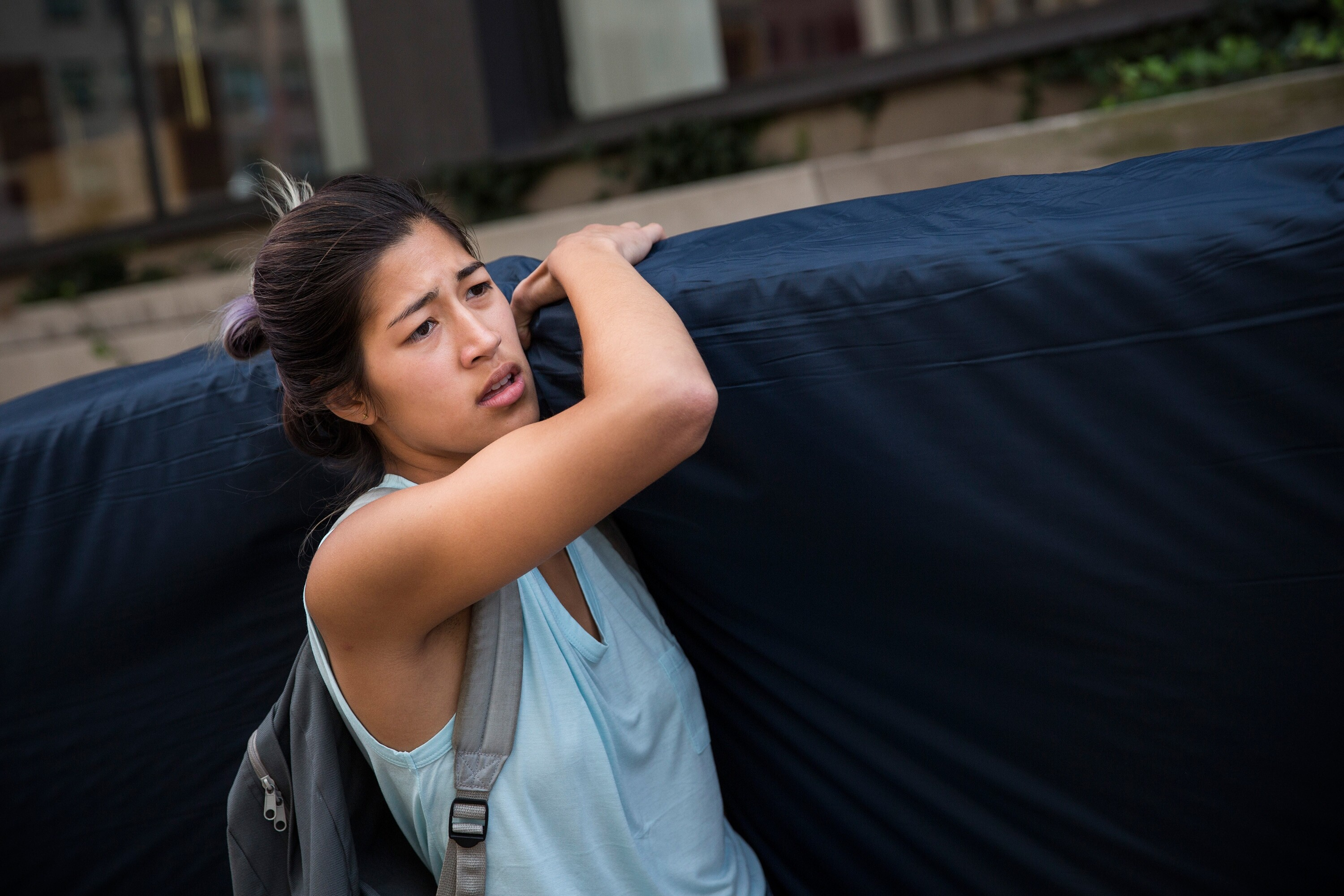 columbia mattress girl looking to cash in on art project