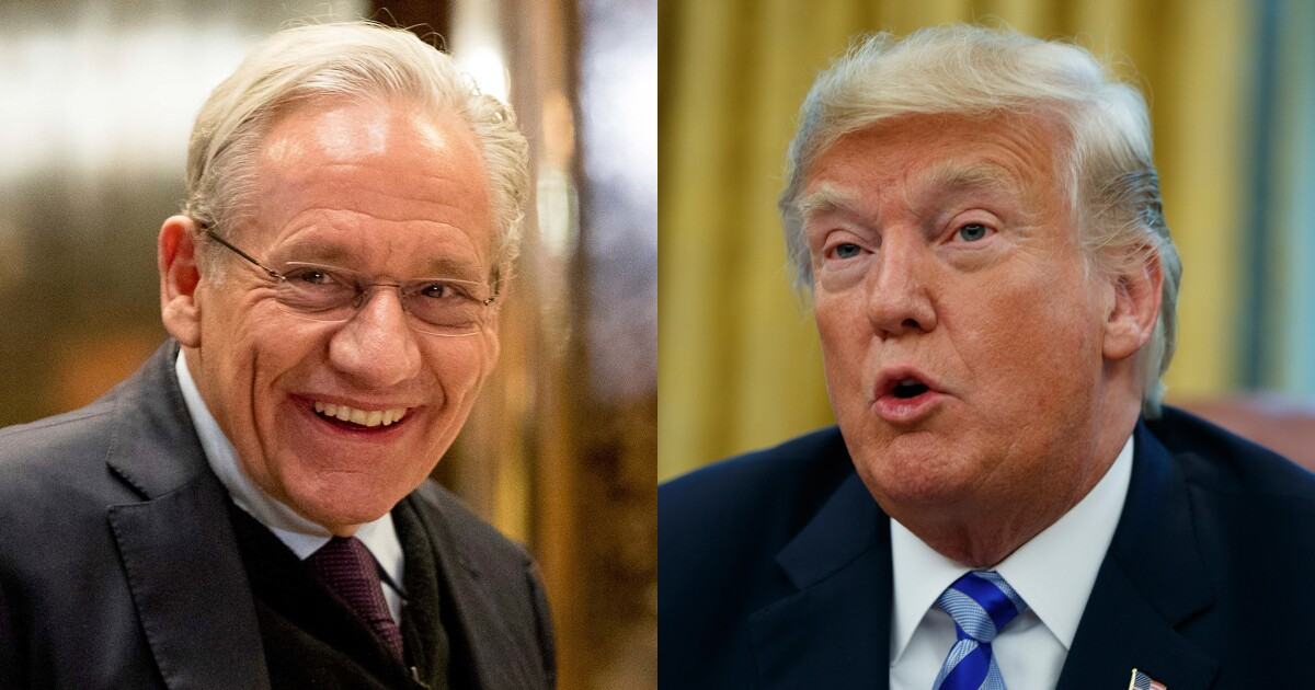 Bob Woodward says he can't release all Trump tapes before election because they're filled with lies