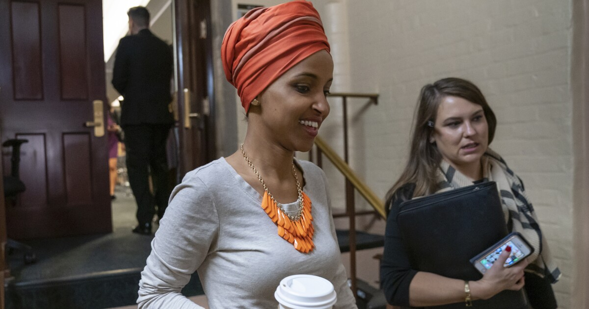 Ilhan Omar proposes new foreign policy plan to 'advance peace' and taper 'US militarism'