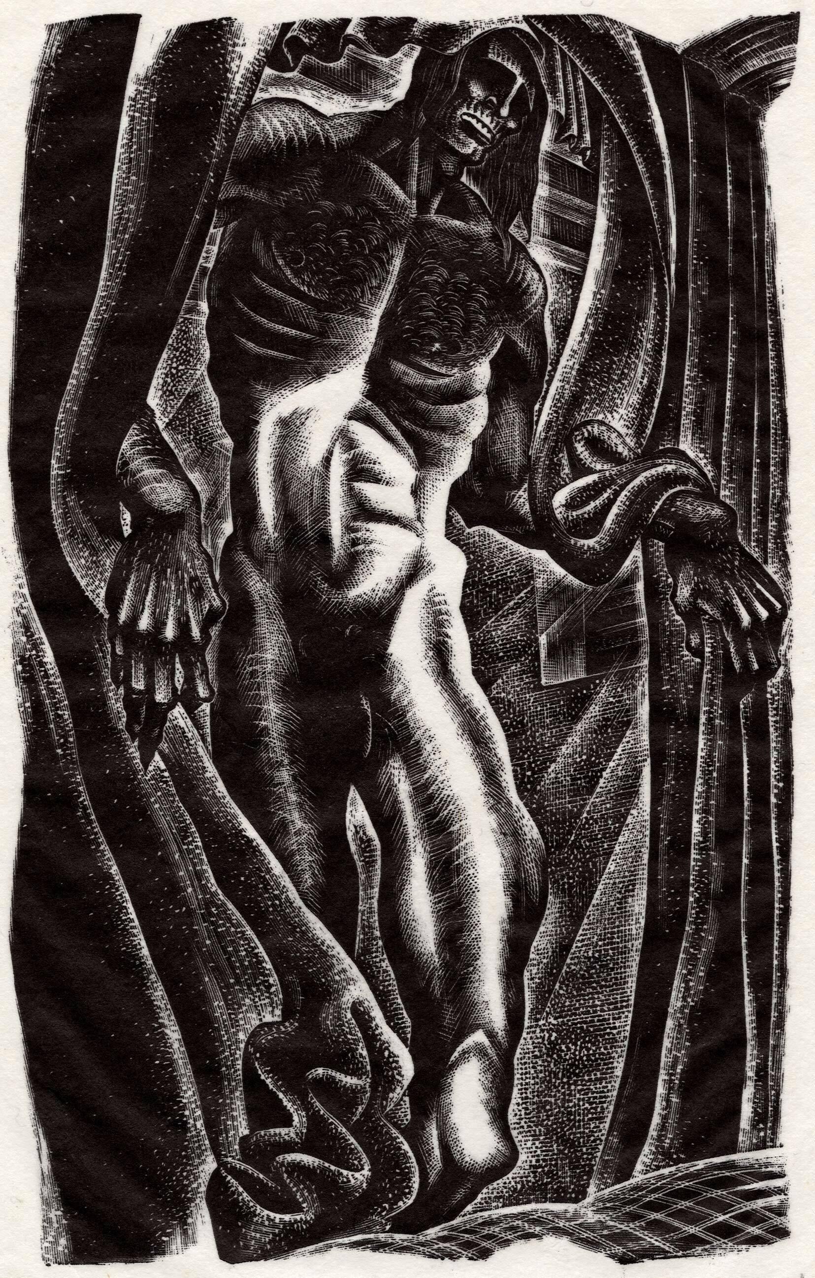 188b8834409 Lynd Ward illustration for a 1934 edition of  Frankenstein