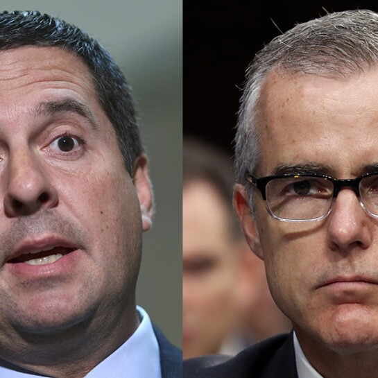 Devin Nunes and Andrew McCabe
