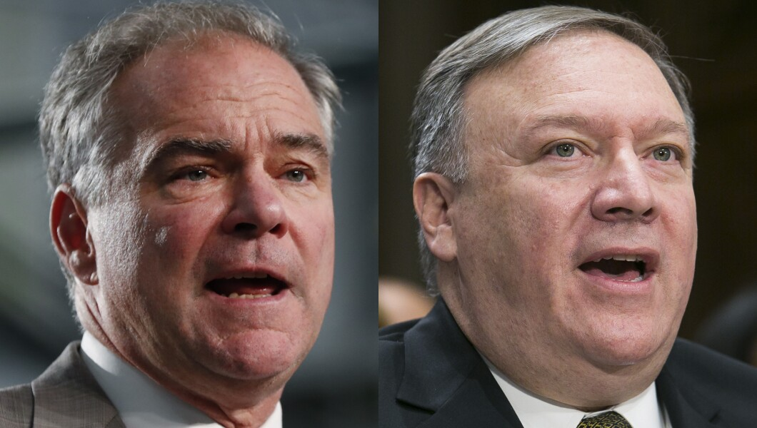 Tim Kaine and Mike Pompeo