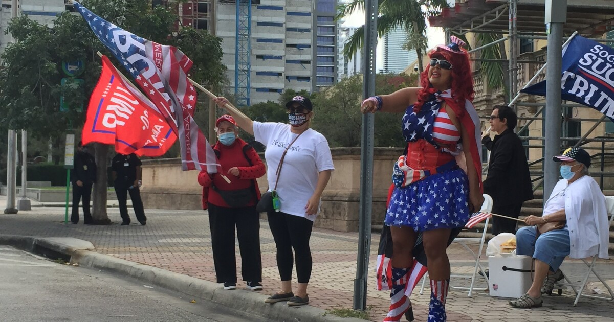 Miami Trump supporters fear communism and call president their 'titan'