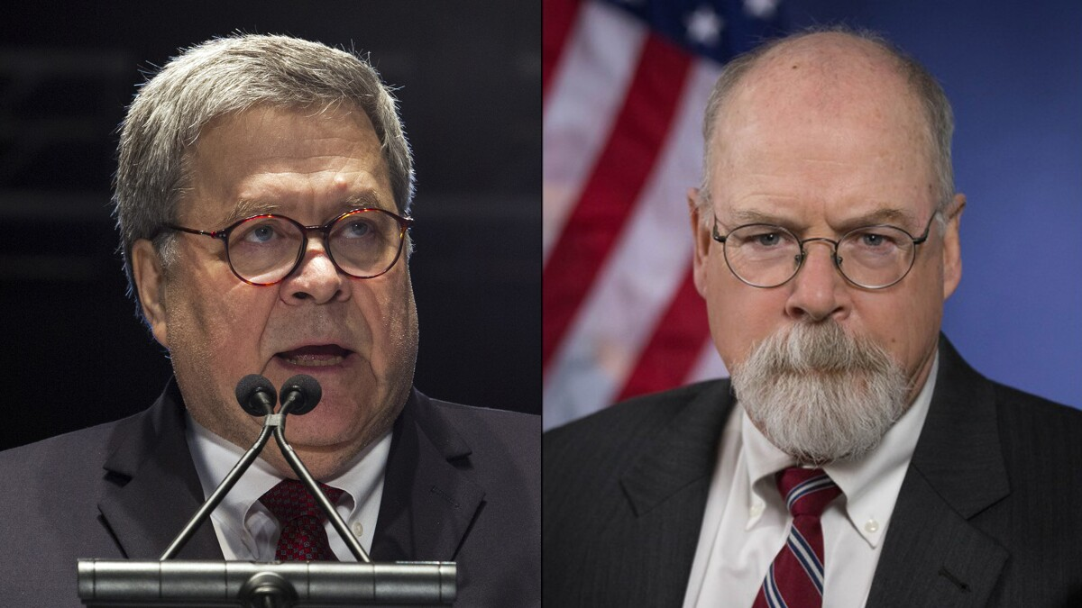 Barr says John Durham could finish inquiry into Russia investigation by late spring 2020