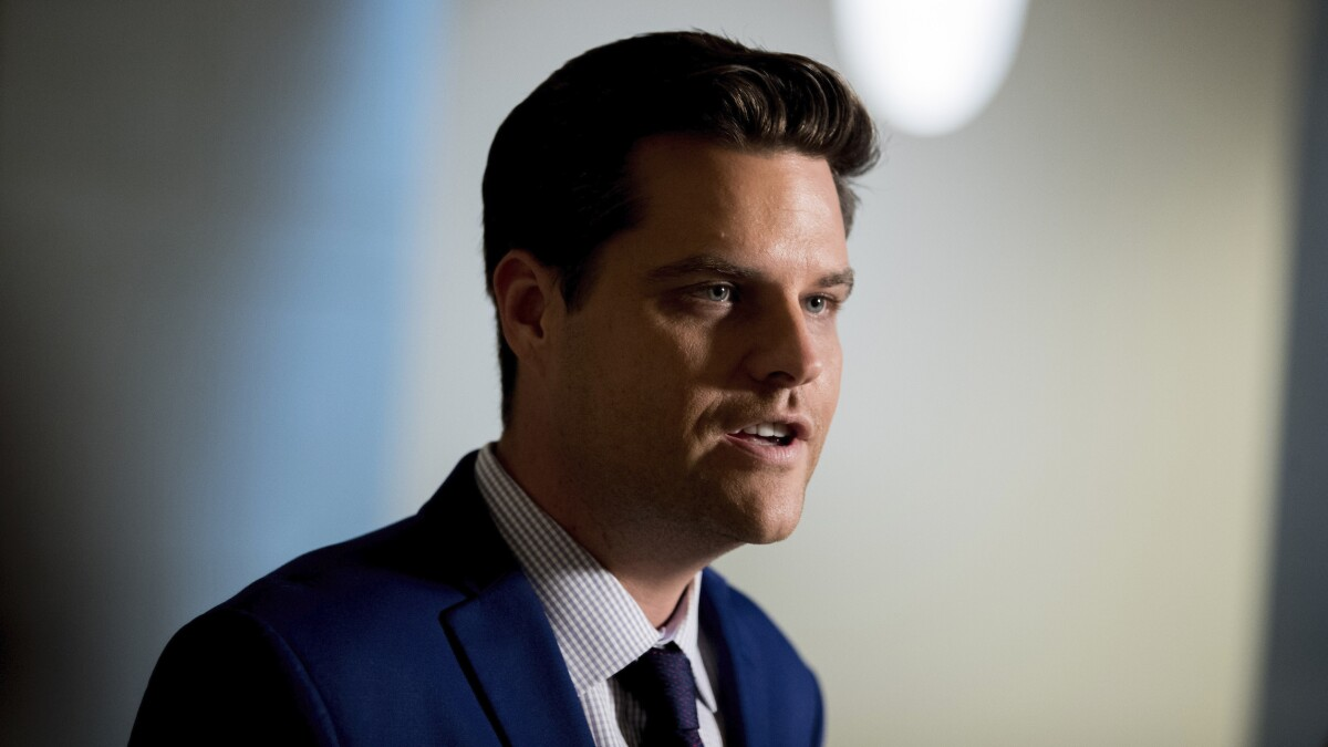 Matt Gaetz calls for jail time for woman who threw drink at him: 'My staff deserves to be safe'