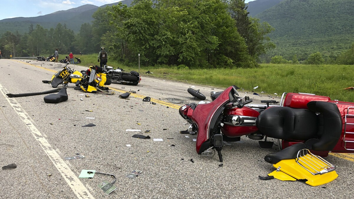 Driver charged in crash that killed seven Marine Corps club motorcyclists