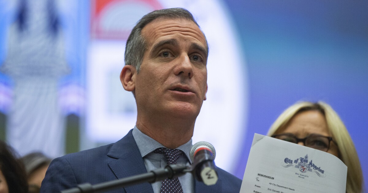 Los Angeles mayor's home vandalized after restricting homeless encampments