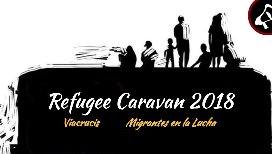"""A logo for Pueblo Sin Fronteras' """"Refugee Caravan."""""""