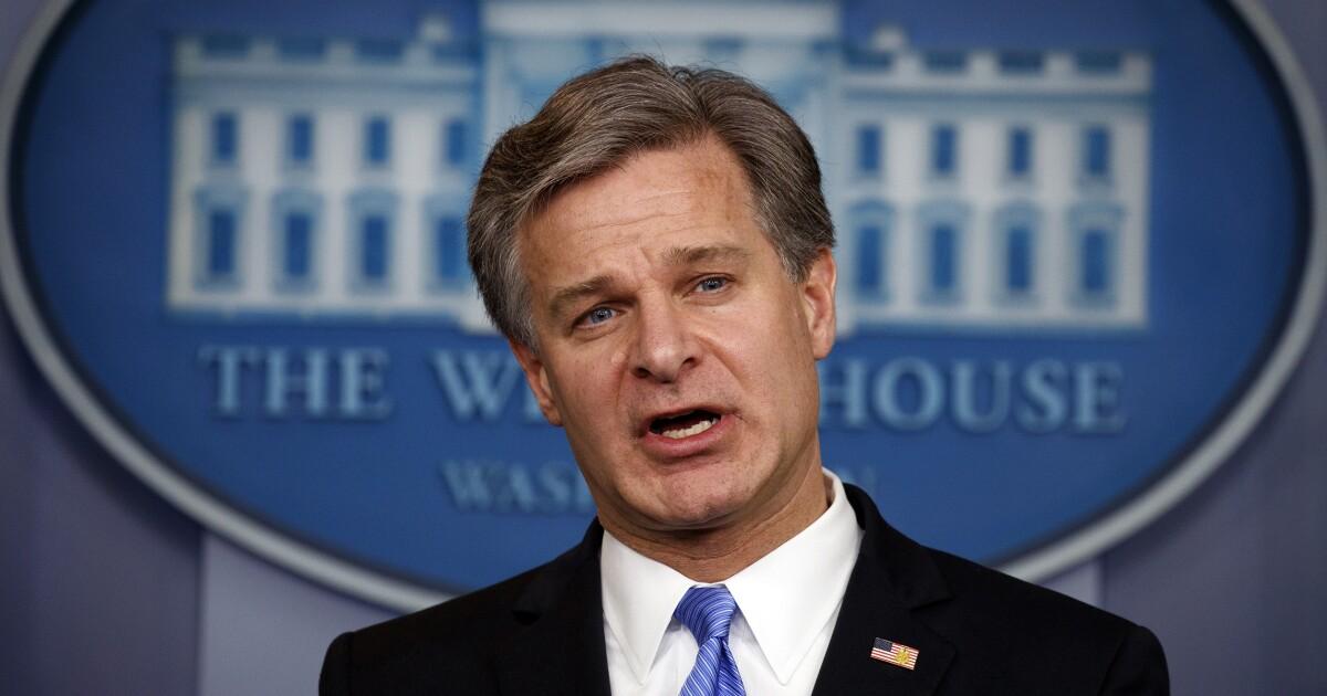 Christopher Wray: FBI investigating 5,000 terrorism cases worldwide