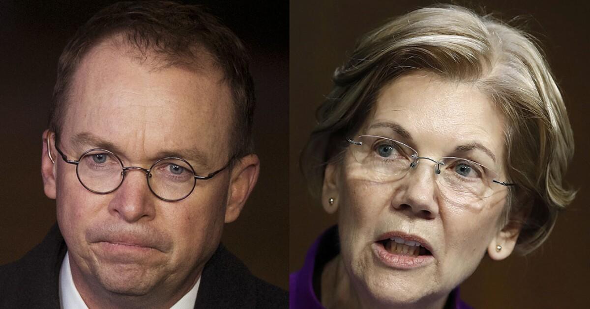 Mick Mulvaney teaches Elizabeth Warren some constitutional law