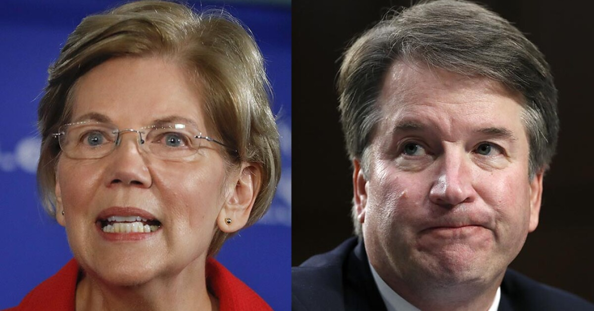 Elizabeth Warren attacks Brett Kavanaugh for once saying, 'What happens at Georgetown Prep, stays at Georgetown Prep'