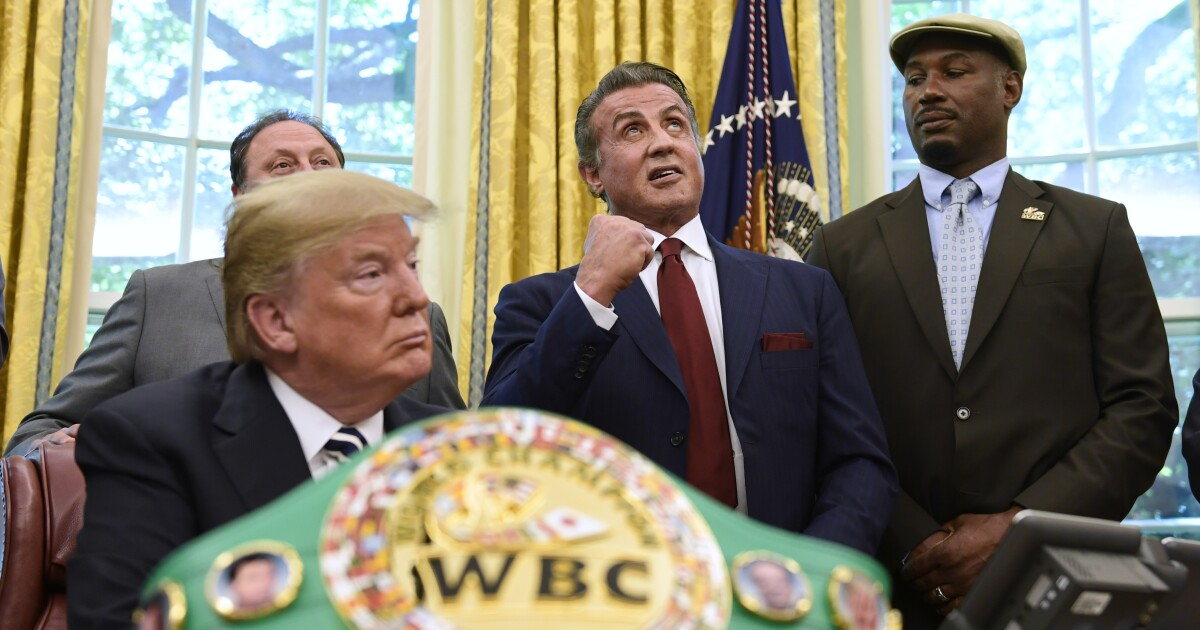 Representative for Sylvester Stallone knocks out reports claiming actor joined Trump's Mar-a-Lago