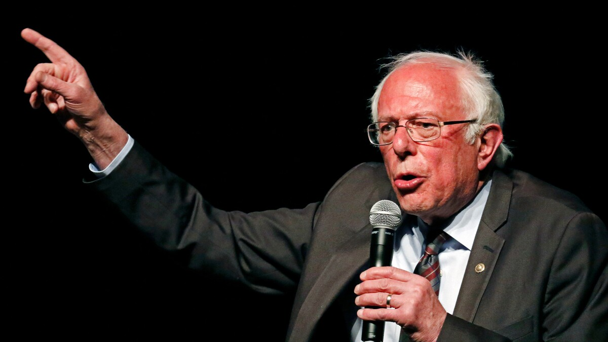 Sanders blasts 'the corporate wing of the Democratic Party'