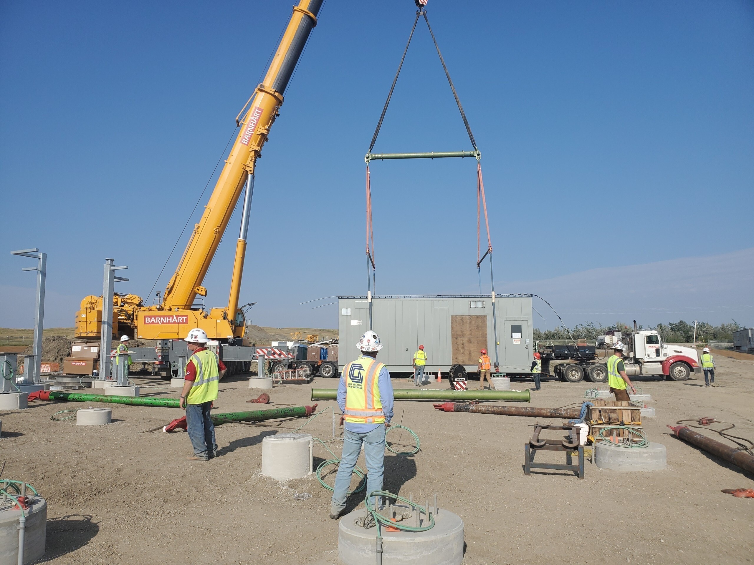 Labor stewards on pump stations 18, 19, and 20 in South Dakota.