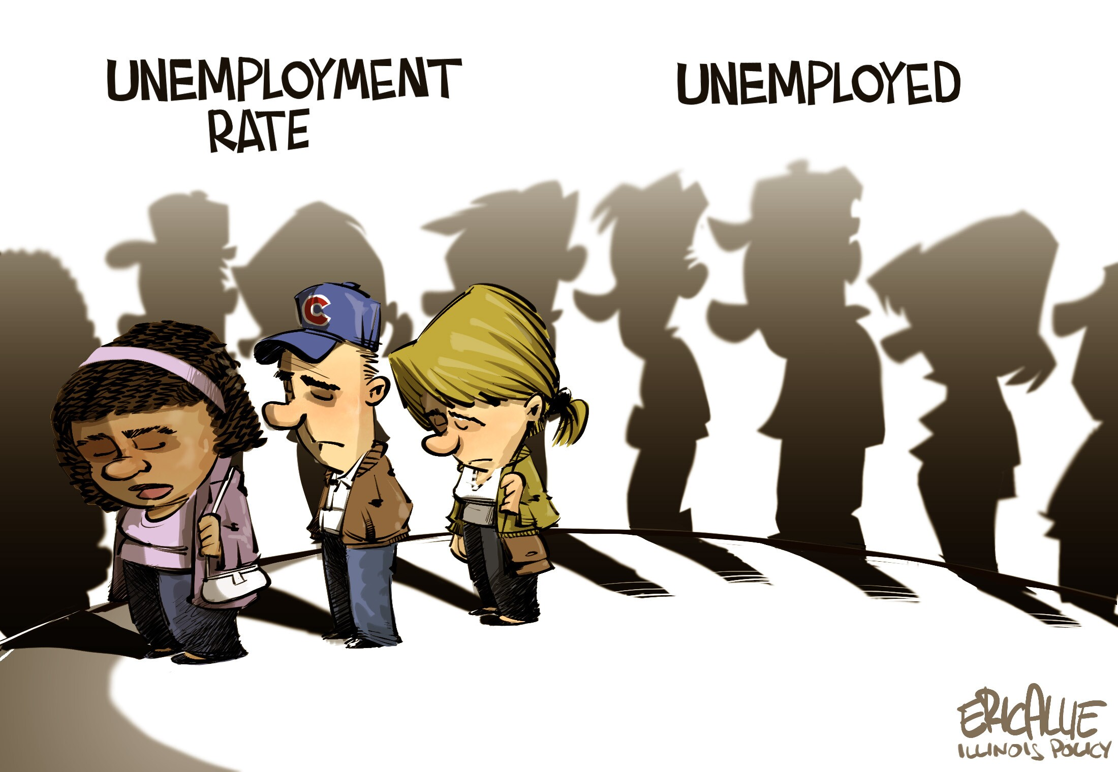Editorial cartoon: The shadow of unemployment