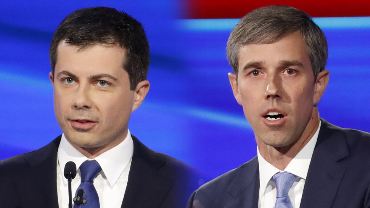 Pete Buttigieg and Beto O'Rourke battle over guns amid jockeying for 'fresh face' image
