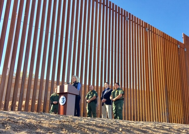 Dhs Unveils Trumps First Completed Border Wall Project Walls Work