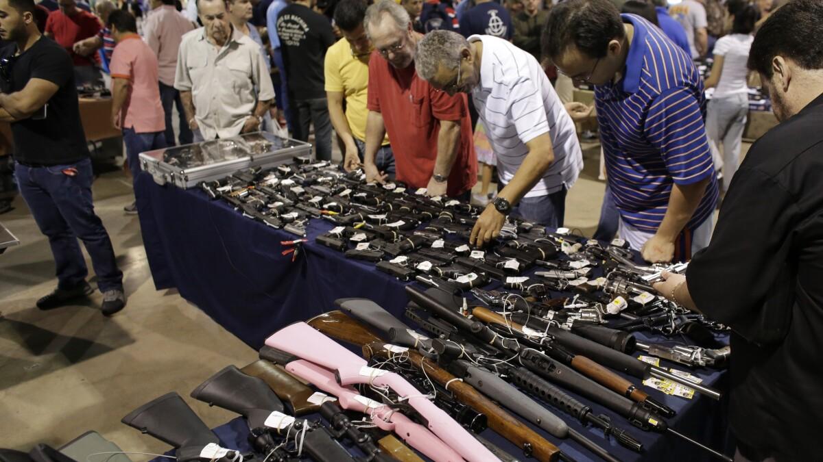Gun sales soar as violent crime drops, ATF says