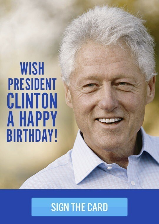 For His 67th Birthday Clinton Gets A Hen Really