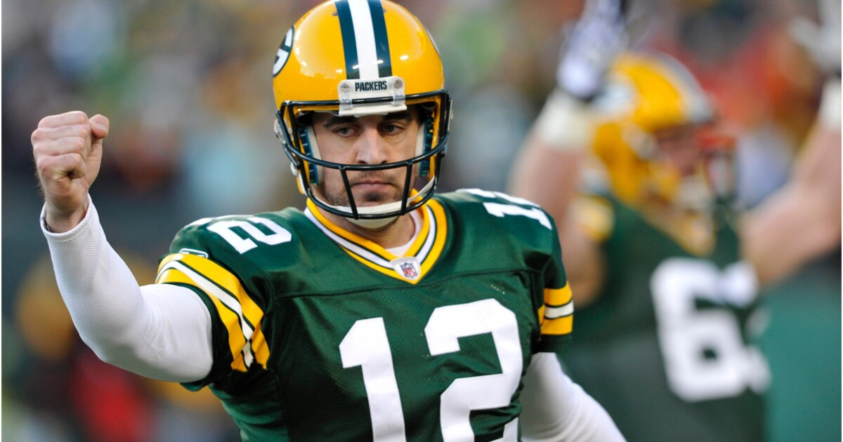 Aaron Rodgers not believing in the bible here. The bigger question is why he would go on his girlfriend's Podcast.…