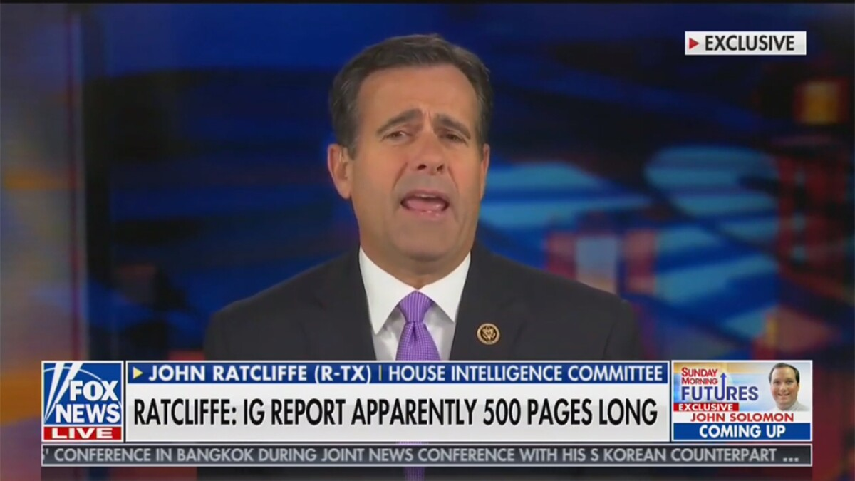 Ratcliffe: Democrats 'racing' to beat disclosure that 'damages the Obama-Biden administration'