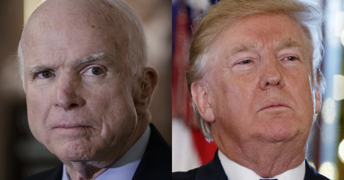 Trump jabs 'last in his class' John McCain for role in disseminating dossier