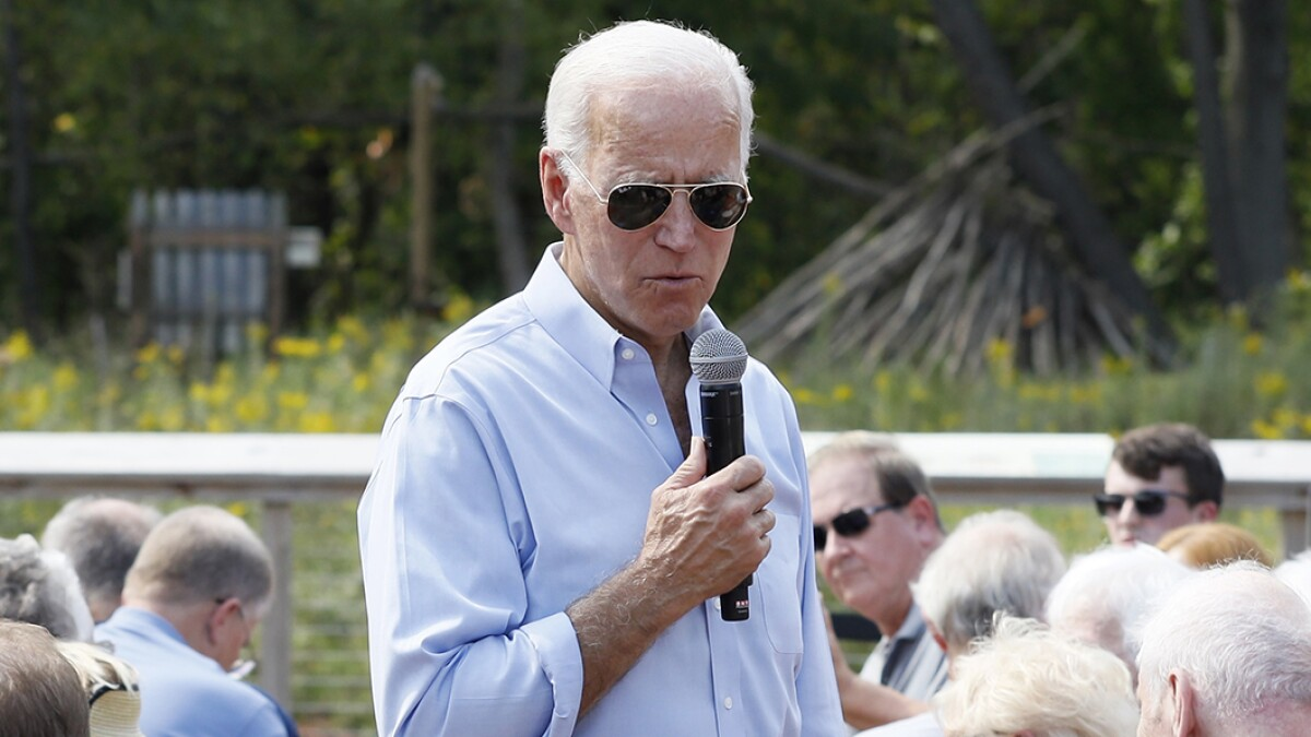 Biden mocks voter: 'You got the right candidate in Bernie ... and Elizabeth'