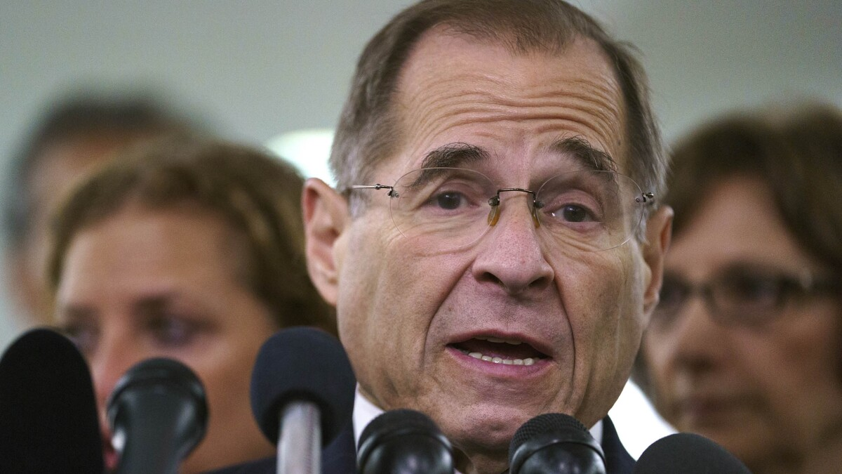 GOP congressman issues resolution to remove Nadler as House Judiciary chairman