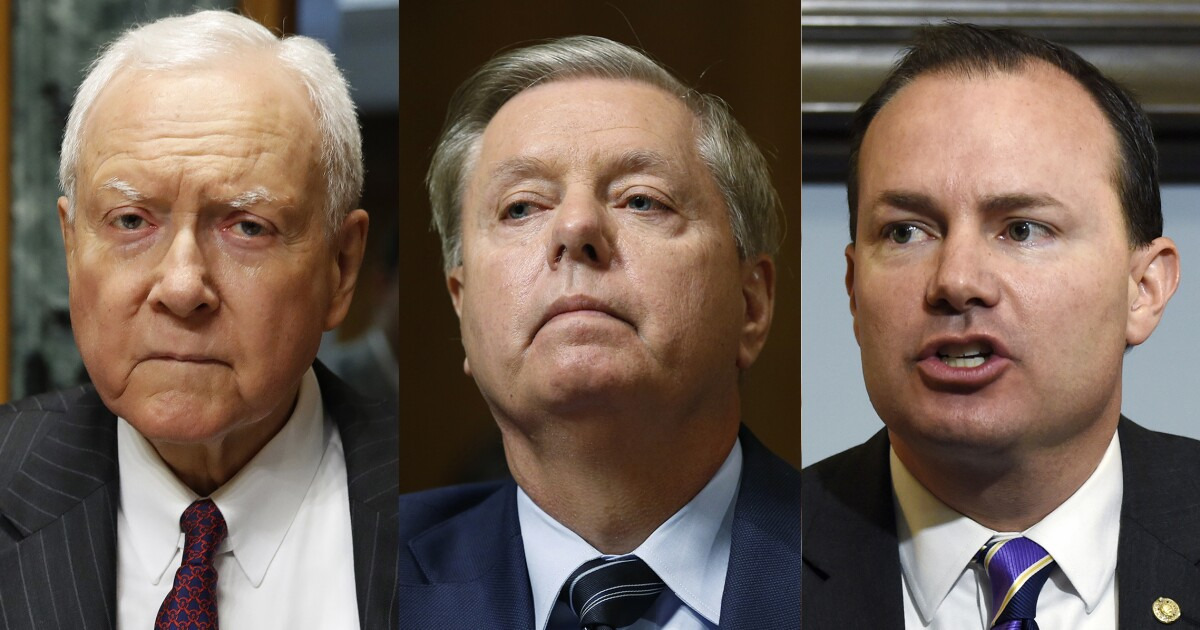 Someone on Capitol Hill just doxxed Republican Sens. Mike Lee, Orrin Hatch, and ...