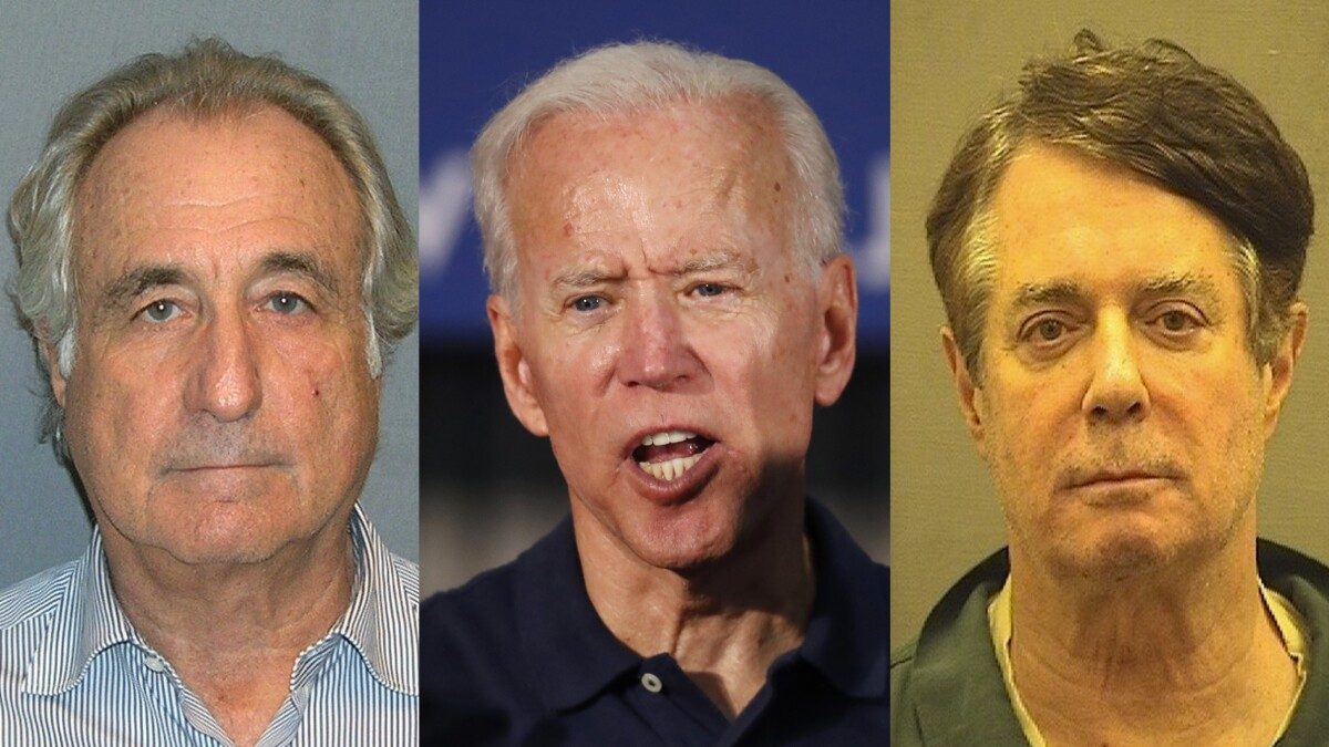Joe Biden basically just called for the release of Bernie Madoff and Paul Manafort